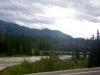 Bridge of the Athabasca river towards Lake Edith.