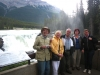Joe, Emma, Lars, Lilian and Karin at Athabasca falls.