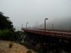 Golden Gate, som vanligt är den ofta insvept i dimma