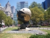 """""""The Sphere"""" the symbol of World peace. Moved from World Trade Center after september 11 2001."""