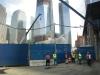 Memorial park under construction.