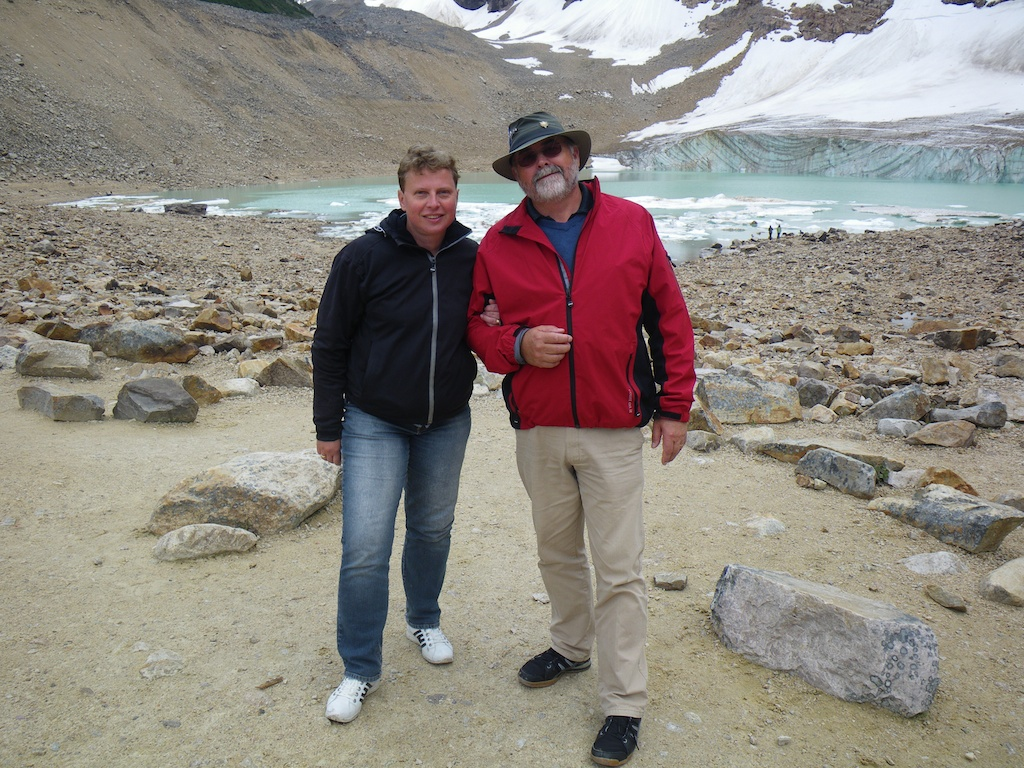Karin and Leif at Mount Edith Cavell