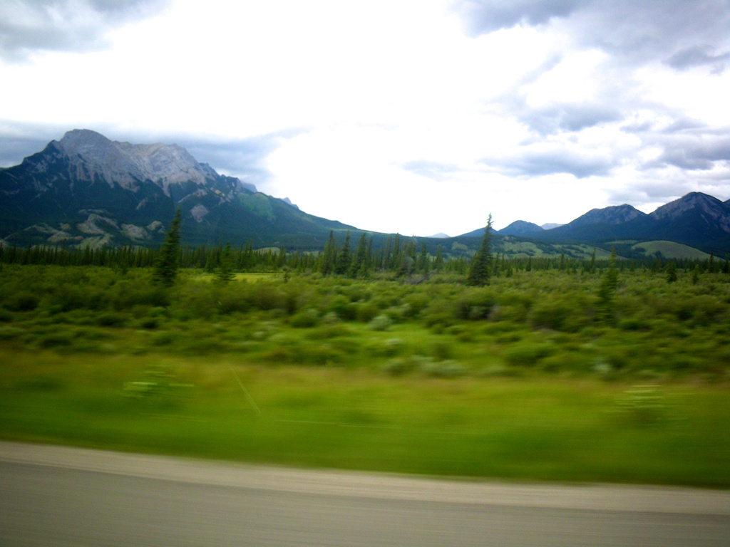 Wonderful view from the car.