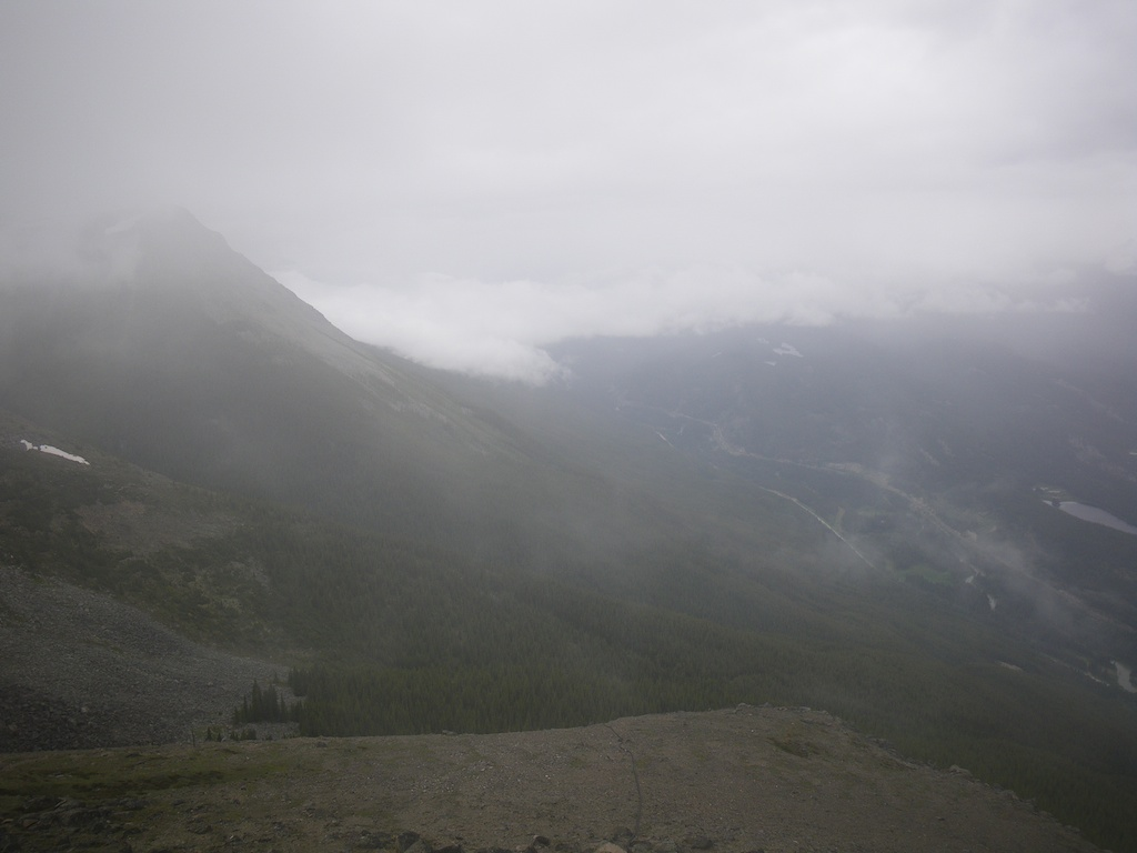 View toward the valley of Miette River