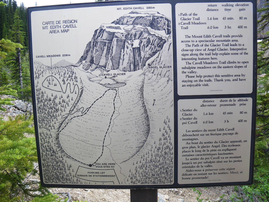 Sign at Mount Edith Cavell