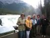 Joe, Emma, Lars, Lilian and Karin at Athabasca falls.