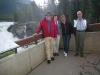 Leif, Lilian, Karin and Lars at the Athabasca falls.