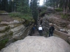Nice path to watch the river down streams Athabasca falls.