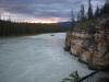 Down streams Athabasca falls