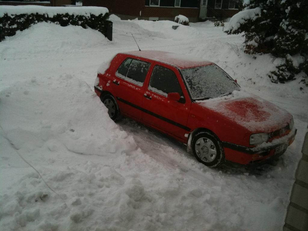 Golfen en snöig dag