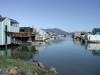 Husbåtar i Marin City norr om San Fransico