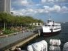 By boat to ellis Island.